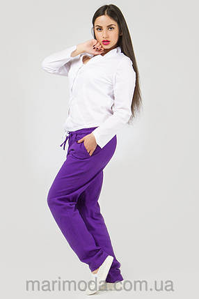 Спортивные штаны женские красные Спорт, фото 2