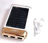 UKC Power bank solar 15000 mAh + зарядка от солнечной батареи  , фото 1