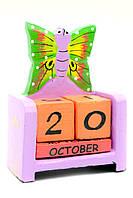 """Календарь настольный """"Бабочка"""" дерево (10х7,5х4 см)"""