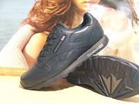 Мужские кроссовки на меху Reebok classic (реплика) синие 43 р.