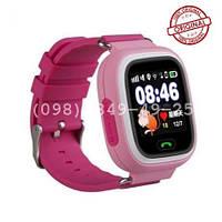 Часы с GPS для детей Q100-Vibro розовые. Оригинал