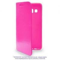 Чехол книжка Book Cover Mobiking with Window Samsung J100 (J1) Pink