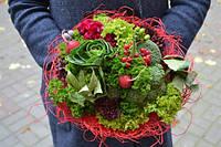 Веган-букет салат,брокколи,редис,зелень