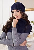 Комплект 79034(шапка-колпак и шарф-снуд) джинсовый