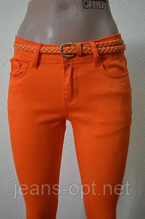 Цветные женские брюки оранжевые 100, фото 2