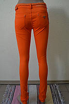 Цветные женские брюки оранжевые 100, фото 3