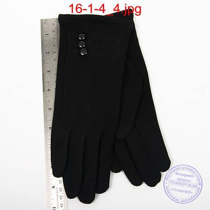 Женские трикотажные перчатки с плюшевым утеплителем - №16-1-4, фото 2