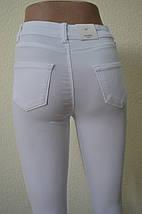 БЕЛЫЕ брюки- АМЕРИКАНКИ с рваным коленомAROX 017(РВDY), фото 2