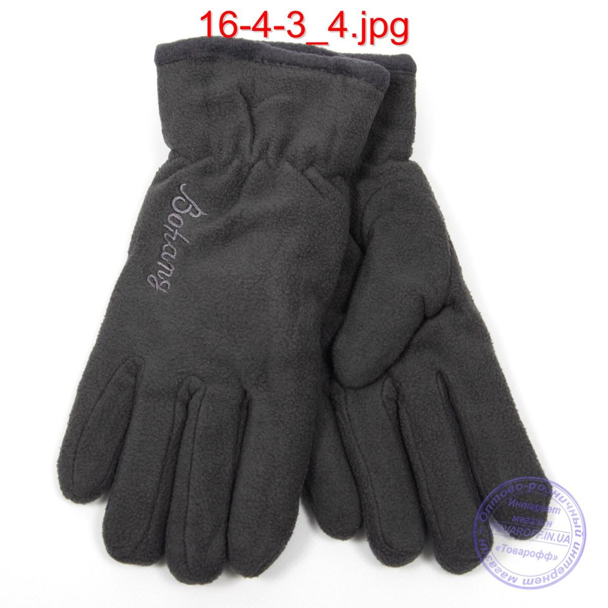Мужские флисовые двойные перчатки - №16-4-3