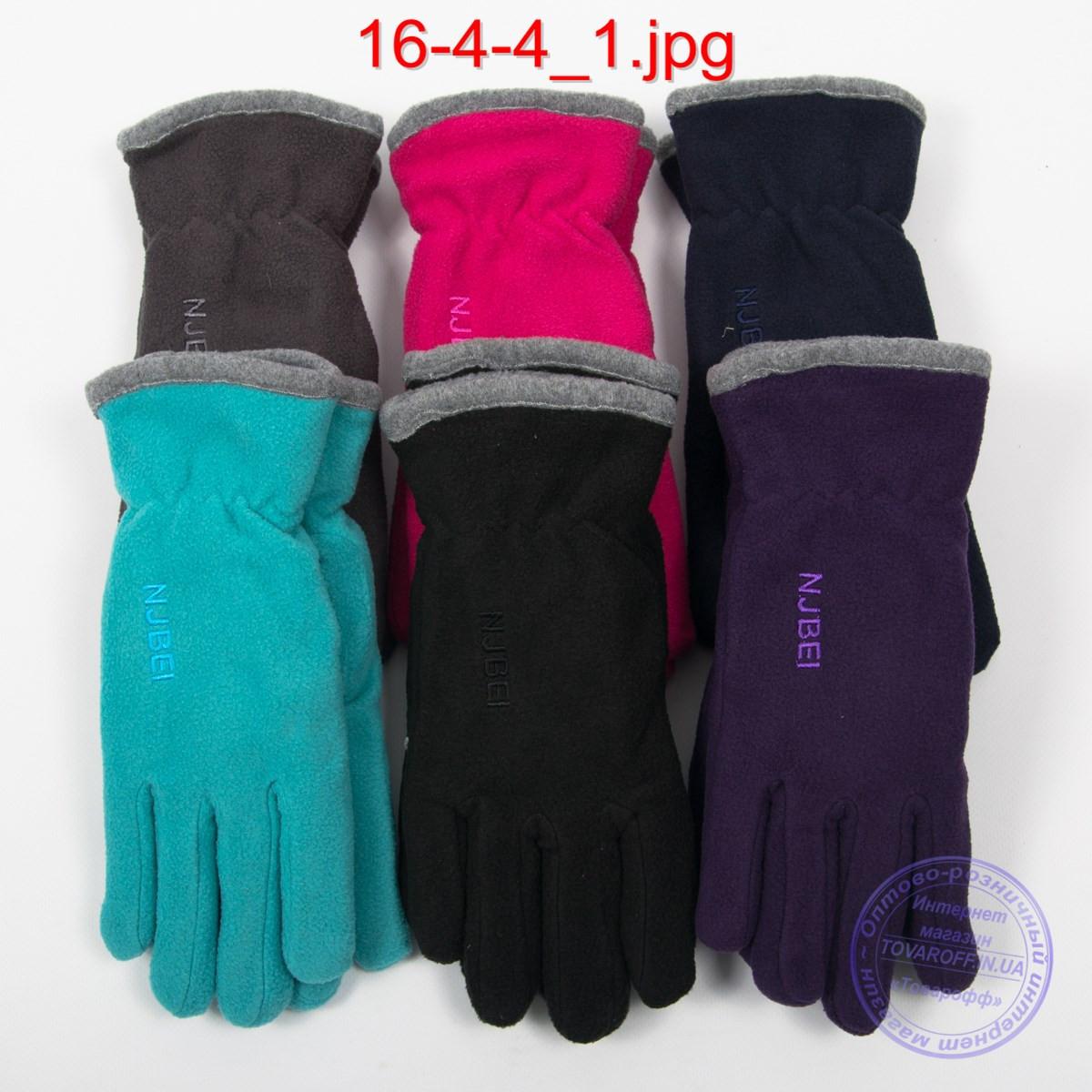 Женские флисовые двойные перчатки - №16-4-4
