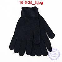 Вязаные мужские ангоровые перчатки - №16-5-25, фото 1