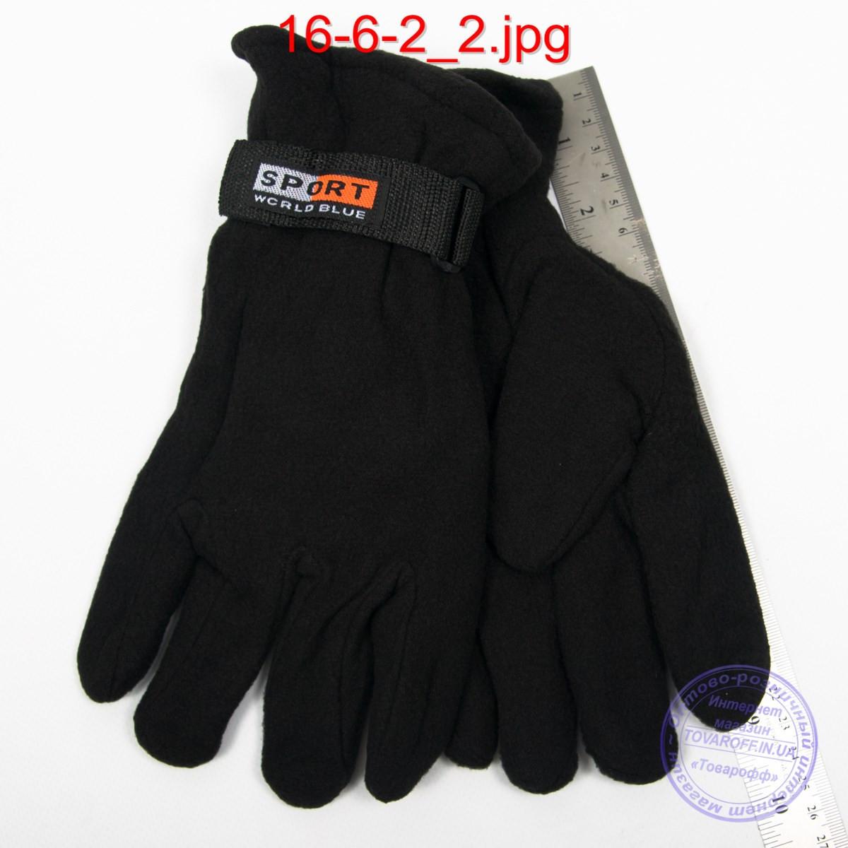 Мужские флисовые двойные перчатки - №16-6-2