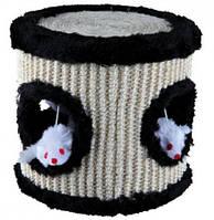 Когтеточка-игрушка для кошки сизалевый барабан 17х17 см