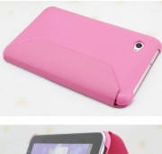 Чехол книжка Book leather case for Samsung P3100, pink