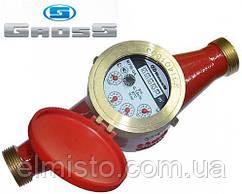 Счётчик GROSS MTW-UA Dn 50 крыльчатый (резьба), L=300мм, Qn=15,0 m3/ч многоструйный на горячую воду