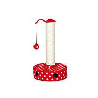 Когтеточка - игрушка для кота, 27х45 см, красный/белый