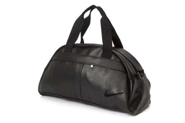 Спортивная сумка в стиле Nike черная экокожа
