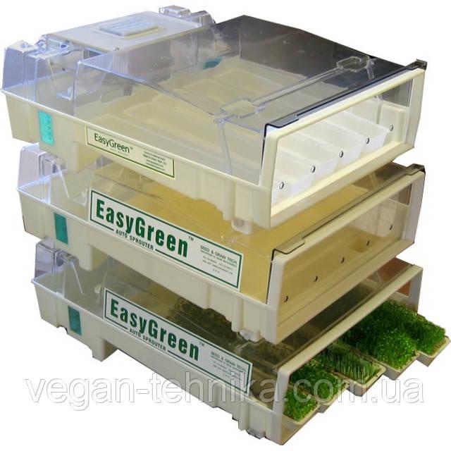 Автоматическая микроферма EasyGreen для проращивания ростков зерен и семян (комплект из 3 шт)