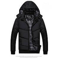Теплая Куртка Черная весна-осень