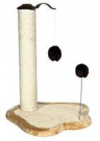 Когтеточка (дряпка) со стояком на подставке-лапа+мяч на пружине,50cм