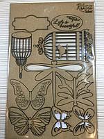 """Чипборд для скрапбукинга """"Floral Poem"""" 1, картон, 13х20см, ROSA Talent"""