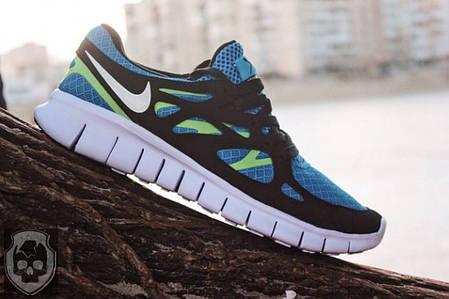 Кроссовки Nike Free Run синие топ реплика, фото 2