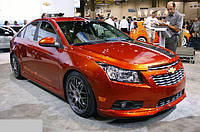 "Накладки на пороги Chevrolet Cruze ""Z-line"", Шевроле Круз"