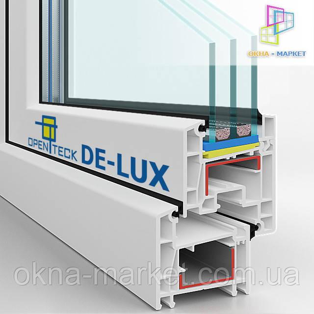 Пластиковые окна Openteck De-lux, вид пластика в разрезе (044) 227_9349;