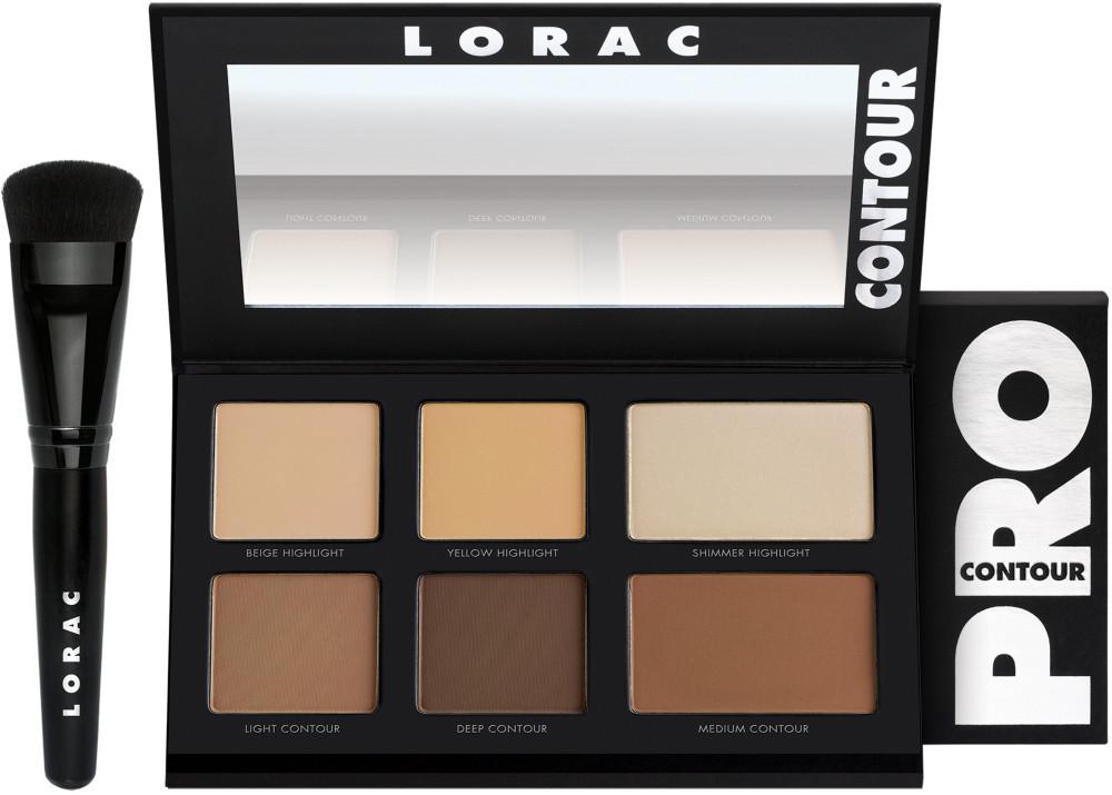 Набор для цветокоррекции лица LORAC PRO Contour Palette & PRO Contour Brush