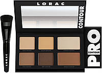 Набор для цветокоррекции лица LORAC PRO Contour Palette & PRO Contour Brush, фото 1