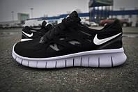 Nike Free Run 2.0 Plus Кроссовки мужские черно-белые