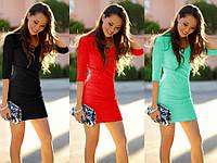 Платье сукня мини футляр рукав 3/4 от производителя купить 42 44 46 48 50 52 Р