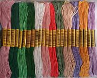 Нитки Мулине для вышивания цветное ассорти(50 мотков х 8m)