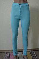 Цветные женские брюки Бирюзовые 401