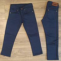 Штаны,джинсы на флисе для мальчика 7-11 лет(синие)(розн) пр.Турция
