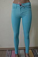 Цветные женские брюки Бирюзовые 3171
