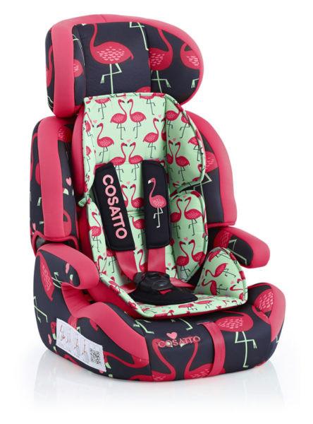 Детское автокресло до 12 лет Cosatto Zoomi Flamingo Fling