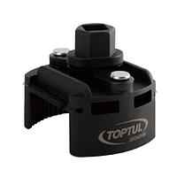 "Съёмник м/фильтра 80-115мм 1/2"" или под ключ 22мм JDCA0112 TOPTUL"