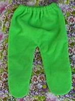 Ползунки зеленые махровые, рост 56