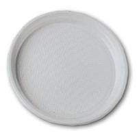 Тарелка пластиковая одноразовая d=205 мм 100шт/уп