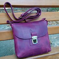 Кожаная сумка Сross фиолетовая