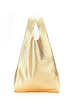 Кожаная сумка POOLPARTY Leather Tote Gold