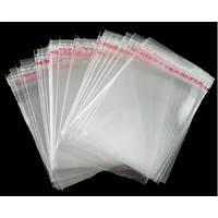 Пакет 15х20 см (100) (уп.)для упаковки прозрачный с клеевым клапаном