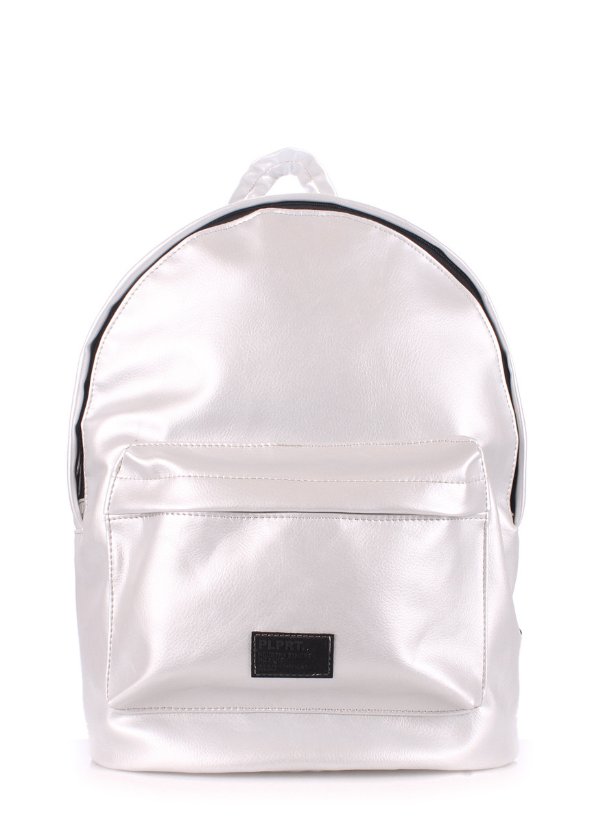 Рюкзак женский POOLPARTY Backpack Pu Lightsilver