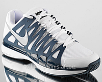 Теннисные кроссовки NIKE  Zoom Vapor 9 Tour (White/Stadium Grey)