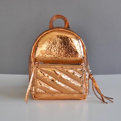 Женский кожаный рюкзак Baby Sport Gold золотой
