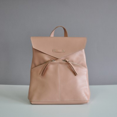 Женский кожаный рюкзак Balance Biege бежевый