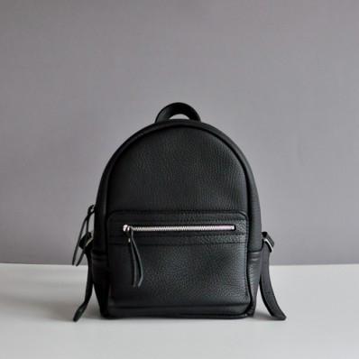 Женский кожаный рюказк Sport Black Elephant черный