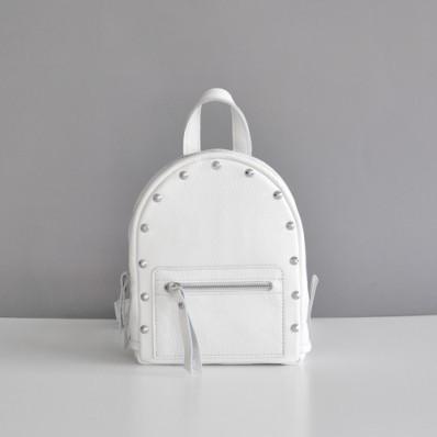Женский кожаный рюкзак Baby Sport Rock White белый