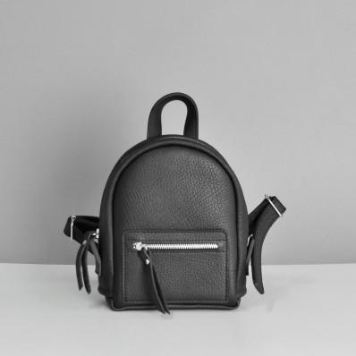 Женский кожаный рюкзак Baby Sport Black Elephant черный